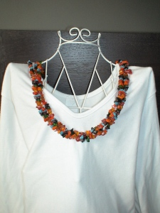 Chunky stone bead necklace